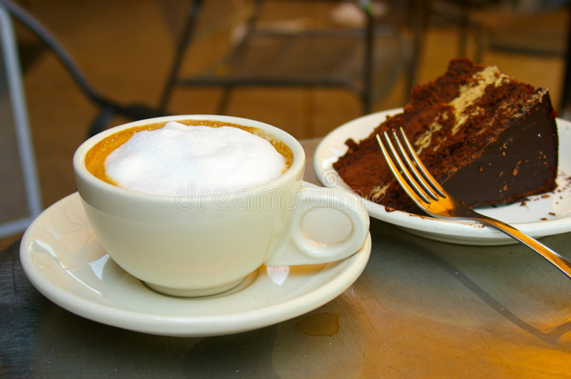 Cake and coffee royalty free stock photo