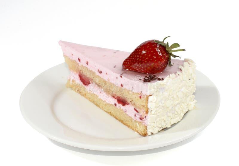Cake with cream royalty free stock photo