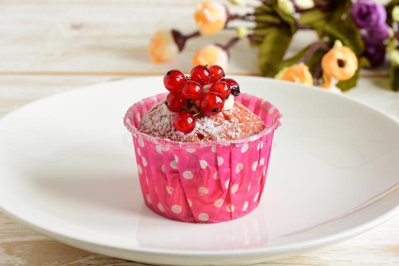 Cake with currants royalty free stock photos