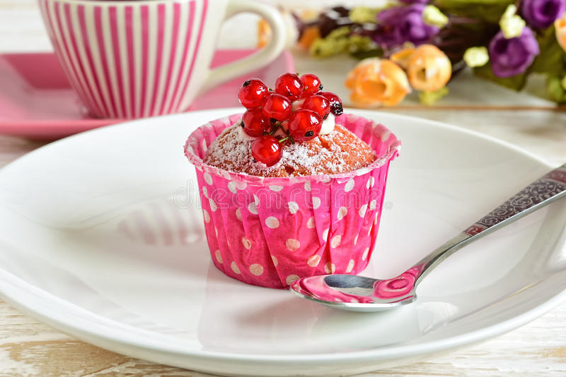 Cake with currants royalty free stock photo