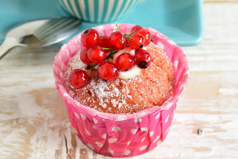Cake with currants stock photography