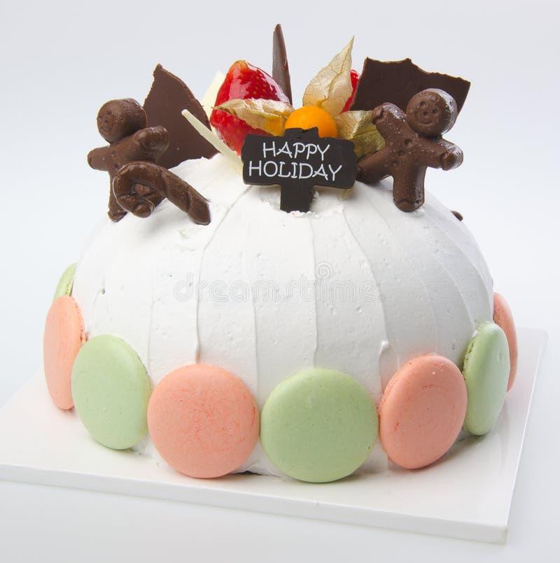 Cake, de cake van het Roomijs op achtergrond stock foto