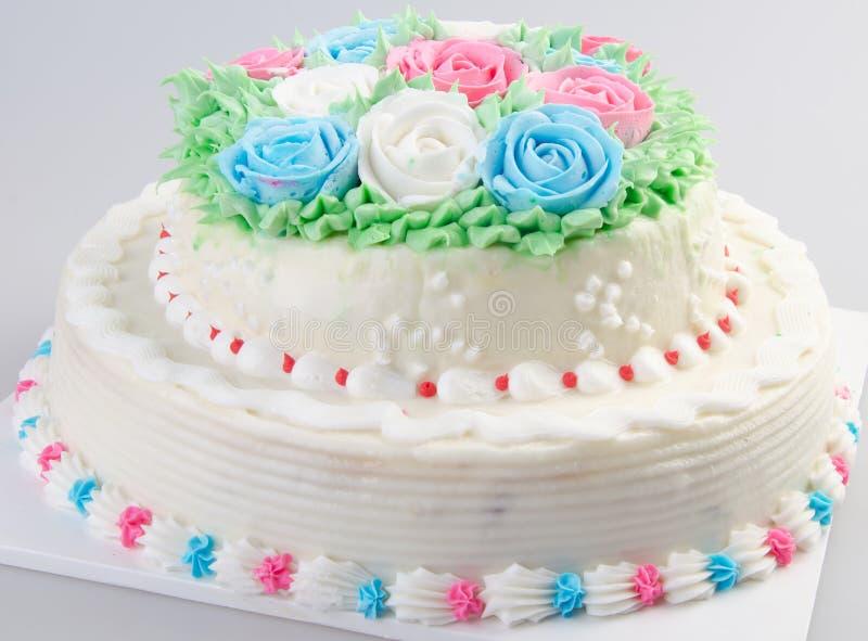 Cake, de cake van het Roomijs op achtergrond royalty-vrije stock foto's