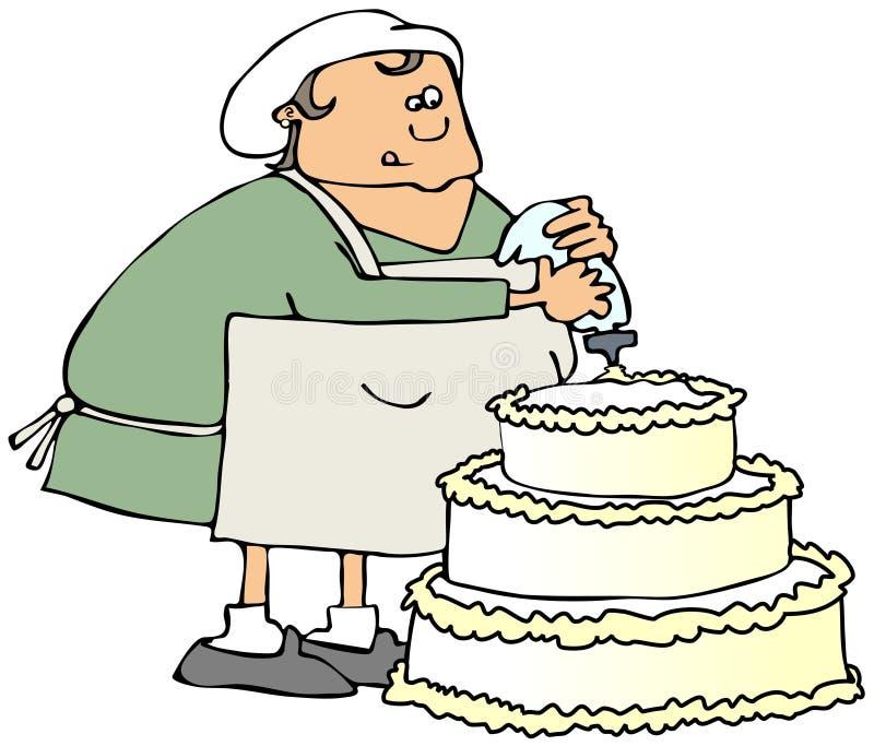 Download Cake decorator stock illustration. Image of decorator - 39978446