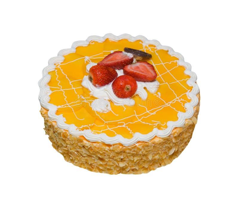 Cake die op Wit wordt geïsoleerd