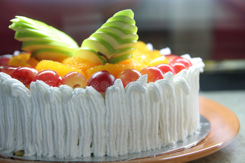 Cake in the display stock photography