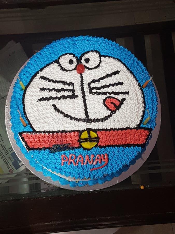 Cake doremon cartoon character boy stock photos