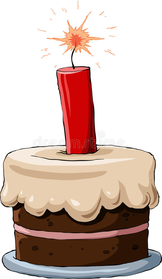 Cake with dynamite royalty free illustration