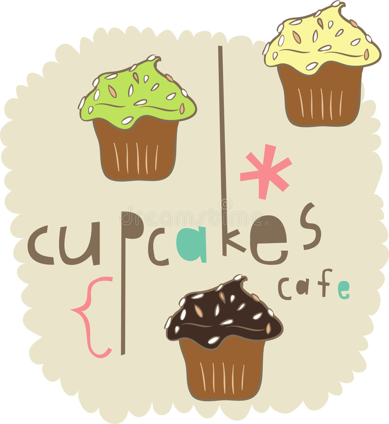 Cake elements design. Cute cakes elements graphic design vector illustration
