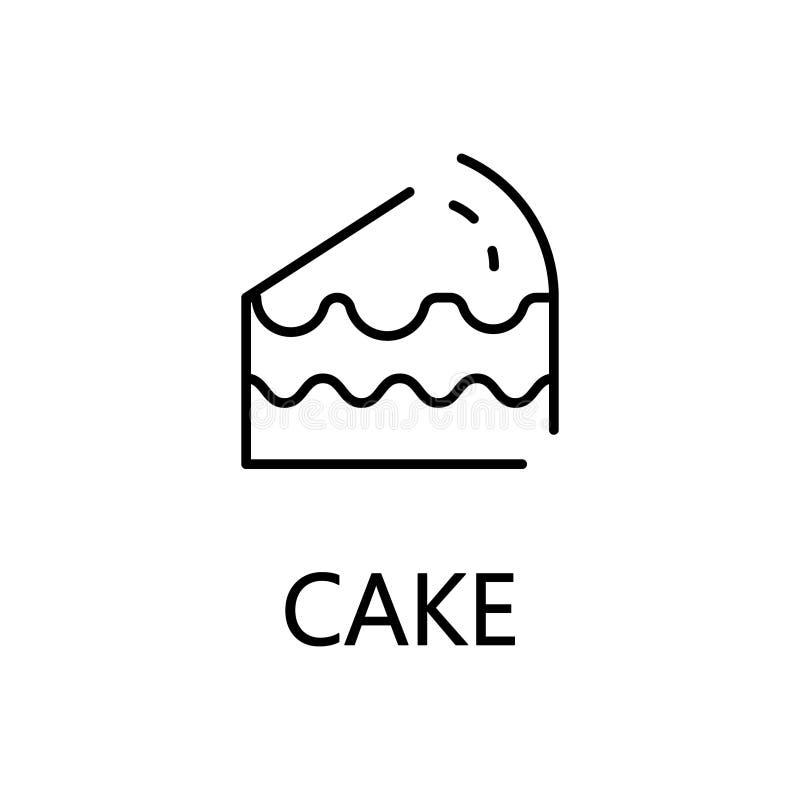 Cake Flat Icon Or Logo For Web Design Stock Vector Illustration