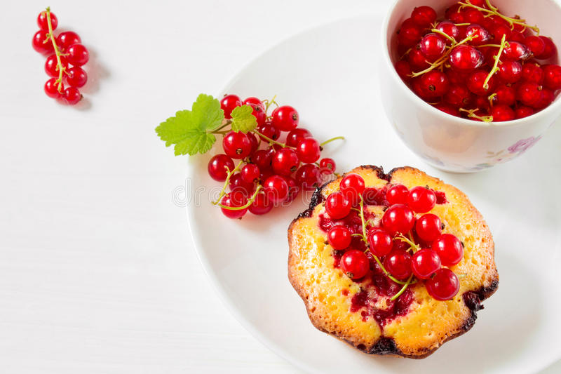 Cake with fresh berries stock photography