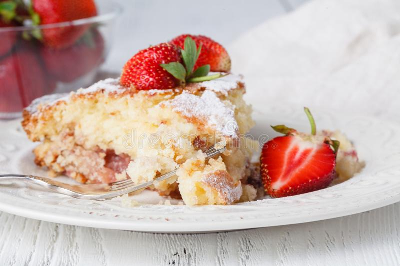 Cake with fresh berryes on a table. Cake with fresh berries on a table stock photo