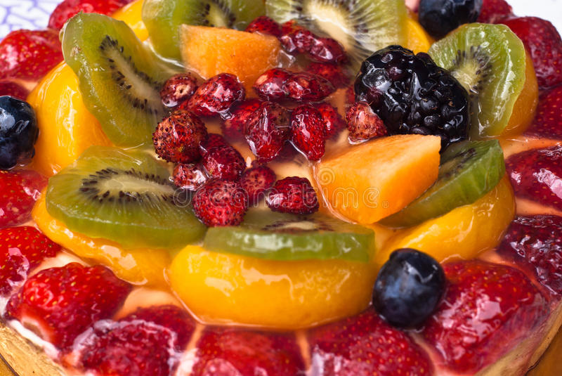 Download Cake with fresh fruits stock photo. Image of background - 33054094