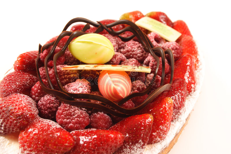 cake fruit 免版税库存图片