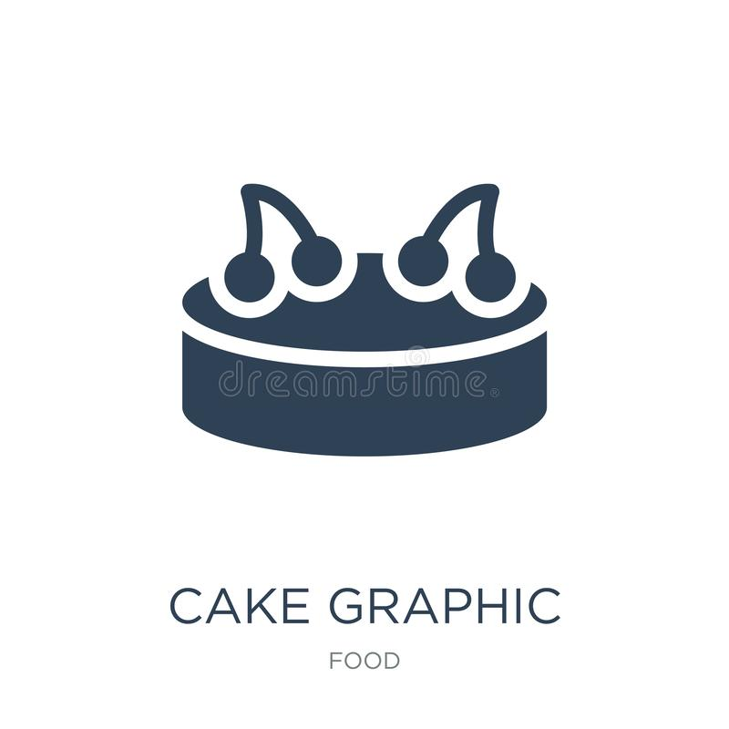 cake graphic icon in trendy design style. cake graphic icon isolated on white background. cake graphic vector icon simple and vector illustration