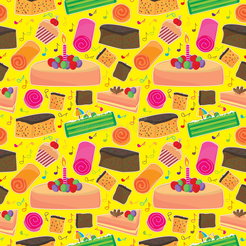 Download Cake Happy Seamless Pattern_eps Stock Vector - Illustration: 24294968