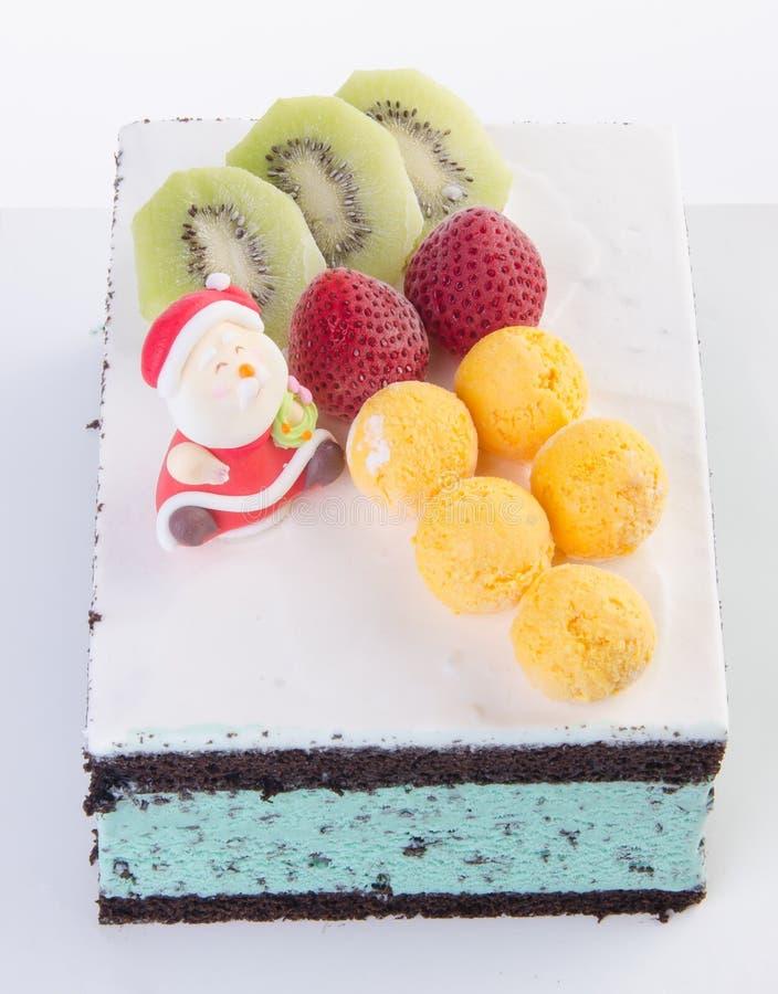 Cake, het roomijscake van Kerstmis stock foto