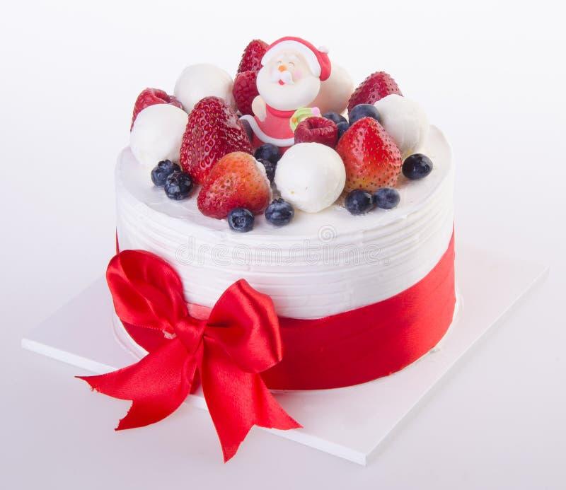 Cake, het roomijscake van Kerstmis royalty-vrije stock fotografie