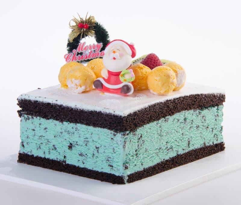 Cake, het roomijscake van Kerstmis stock afbeeldingen