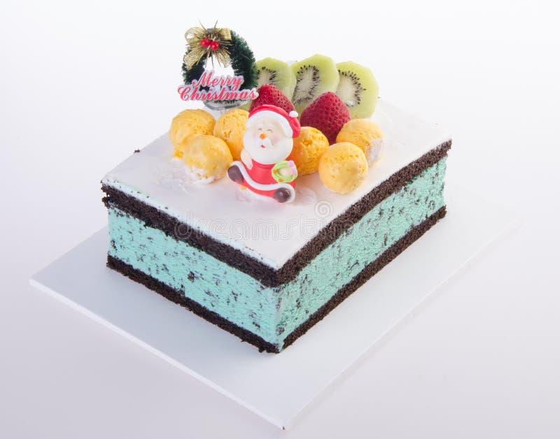 Cake, het roomijscake van Kerstmis stock afbeelding