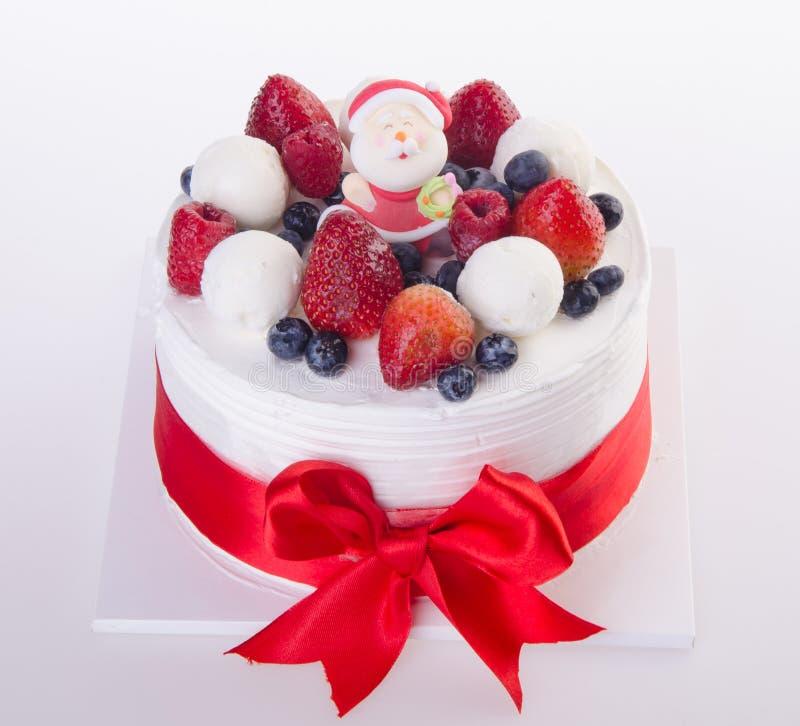 Cake, het roomijscake van Kerstmis stock foto's