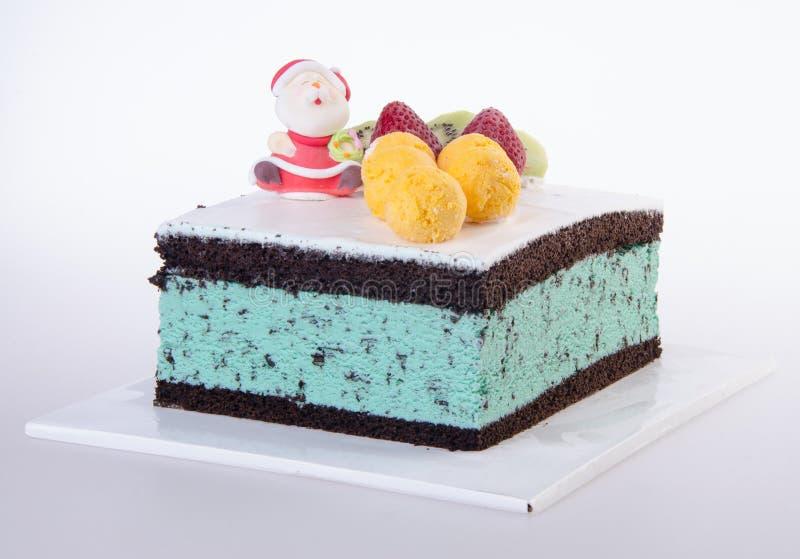 Cake, het roomijscake van Kerstmis royalty-vrije stock afbeeldingen
