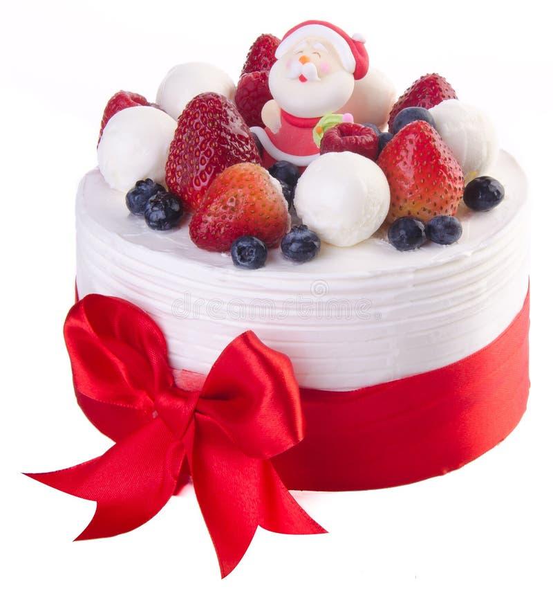 Cake, het roomijscake van Kerstmis royalty-vrije stock afbeelding