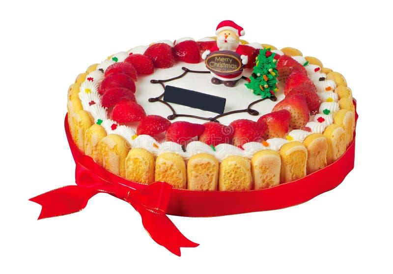 Cake, het roomijscake van sneeuwmannenKerstmis stock foto's