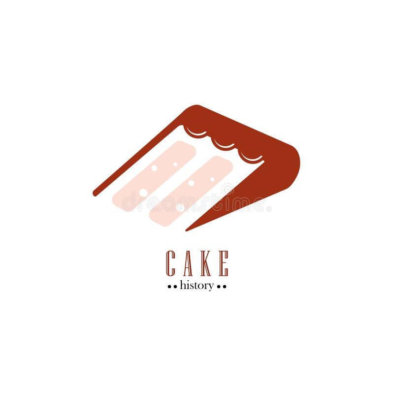 Cake History royalty free illustration
