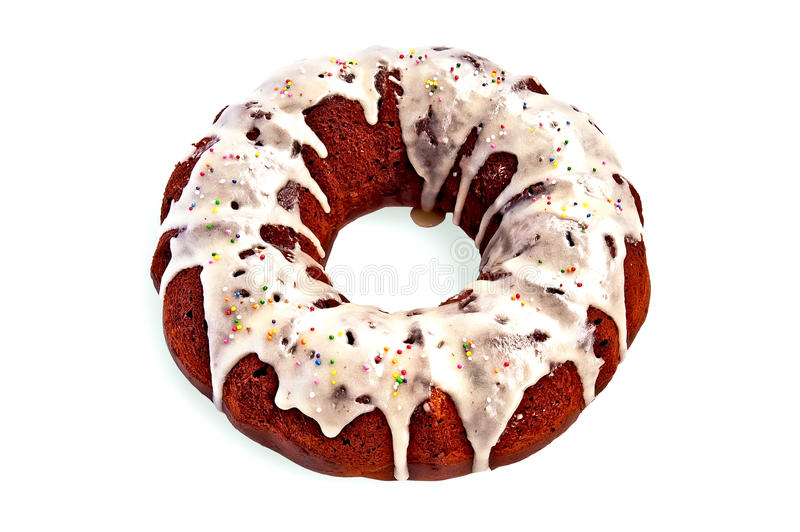 Download Cake Homemade With Sugar Glaze Stock Image - Image of single, refreshment: 28974159