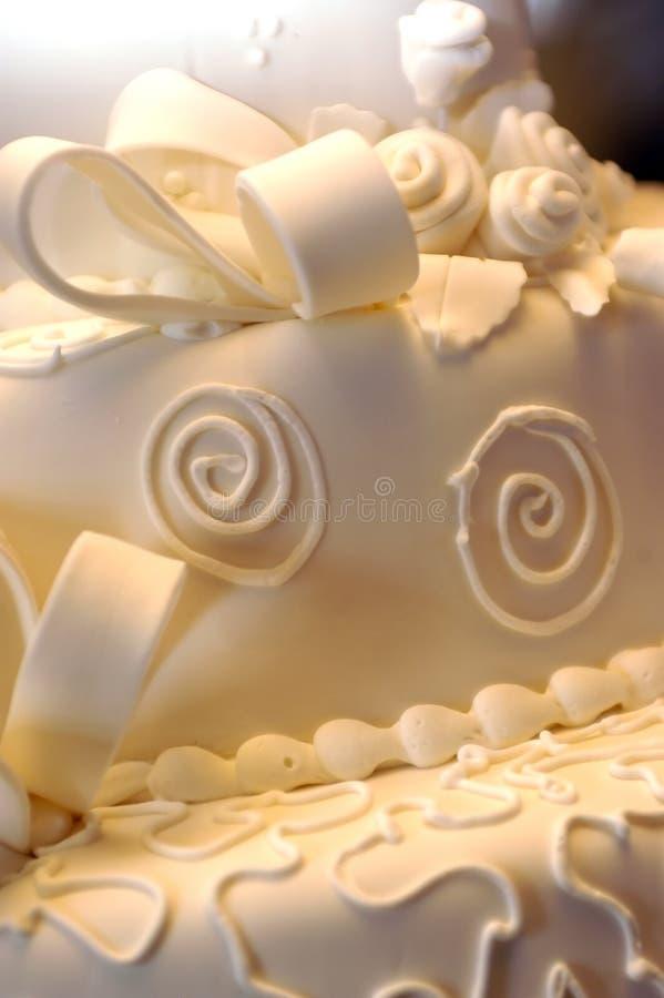 Cake - huwelijksclose-up royalty-vrije stock afbeelding