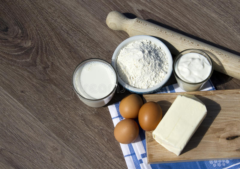 Cake ingredients royalty free stock photography