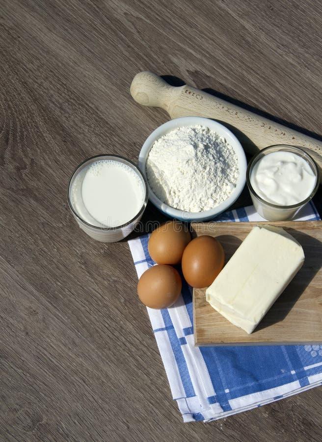 Cake ingredients stock images