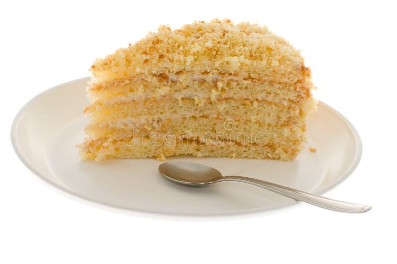 Cake isolated. On white background stock image