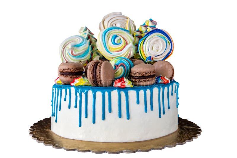 Cake isolated. On white background royalty free stock photo