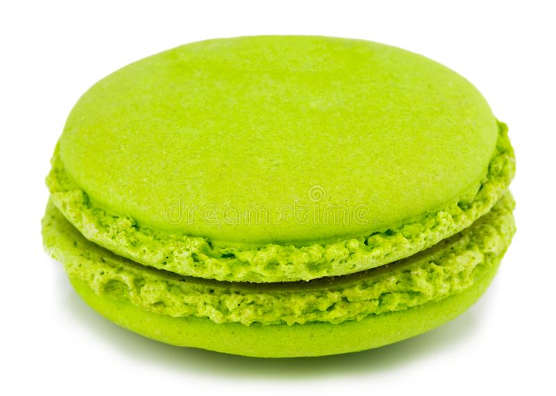 Cake macaron or macaroon isolated on white background, sweet and. Colorful dessert royalty free stock image
