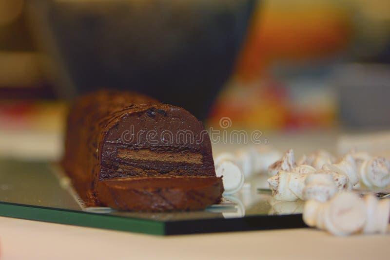 Cake and meringue royalty free stock photos