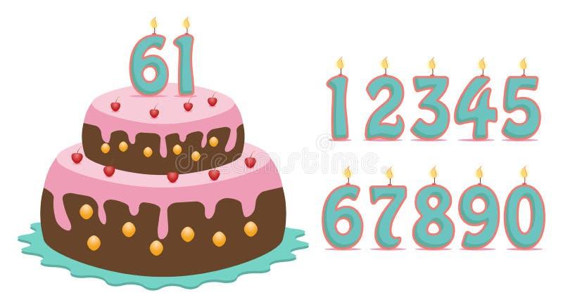 Cake met aantallen stock illustratie
