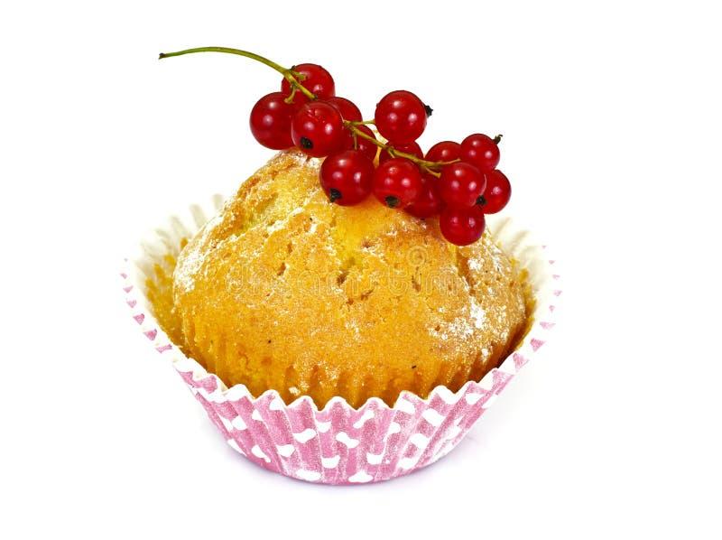 Cake met Bessen op Wit stock foto