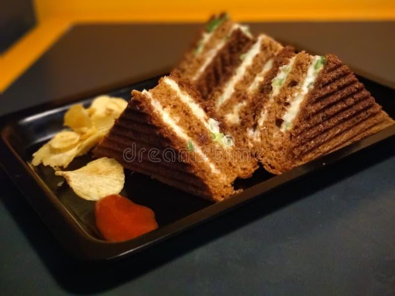 Cake met kaars stock fotografie