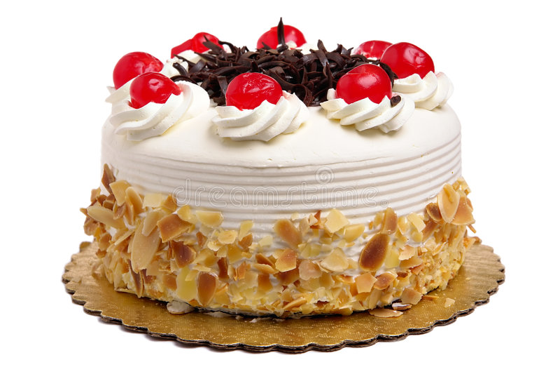 Cake met kersen royalty-vrije stock afbeeldingen