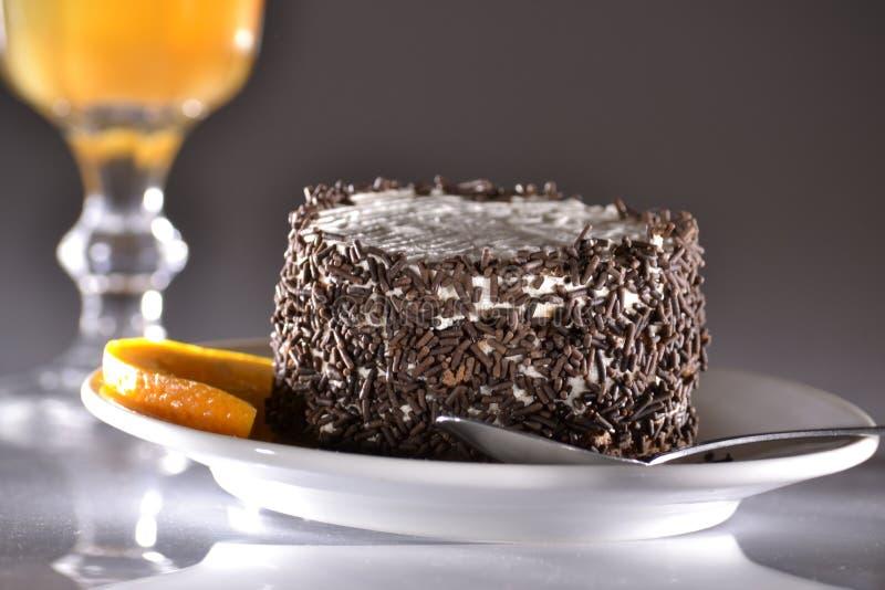 Cake met sinaasappel royalty-vrije stock foto's