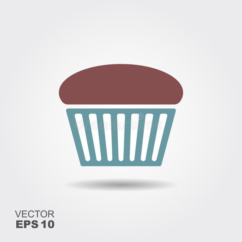 Muffin Flat Icon vector illustration