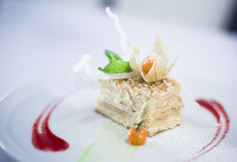 Cake napoleon stock photos