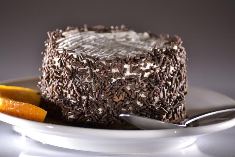 cake&orange fotografia de stock