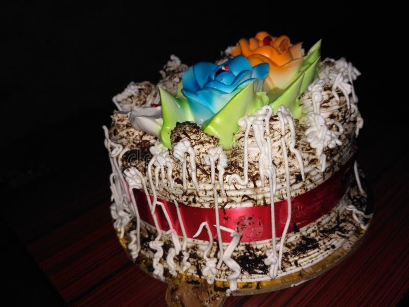 Cake pestries brithday cake Brithdaytime stock foto's