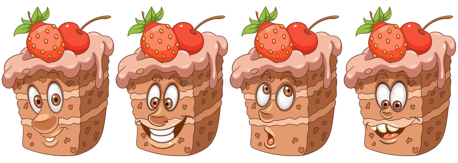 Cake. Pie. Bakery and Pastry concept stock illustration