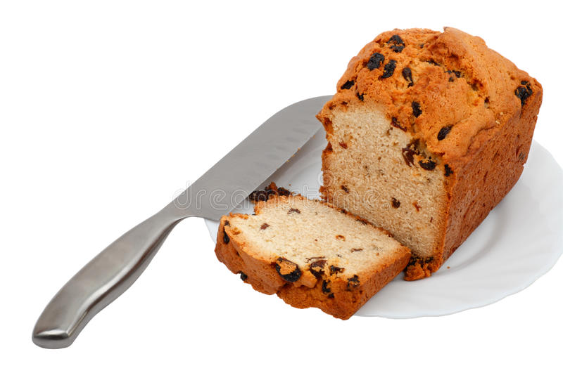 Cake on a plate stock image