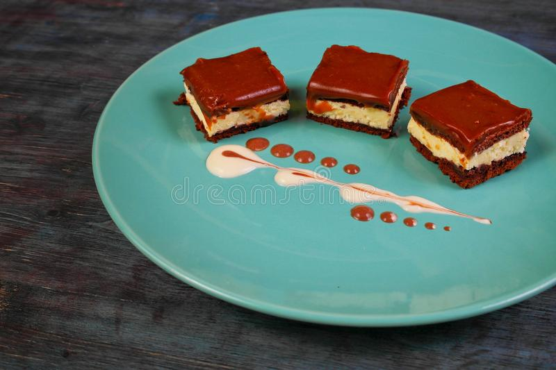 Download Cake on plate stock photo. Image of dessert, sweet, cake - 83724754