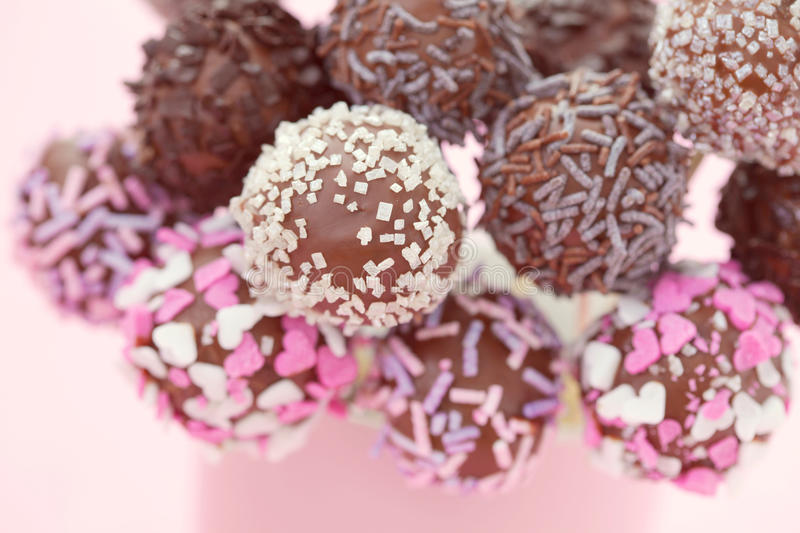 Cake pops royalty free stock photography